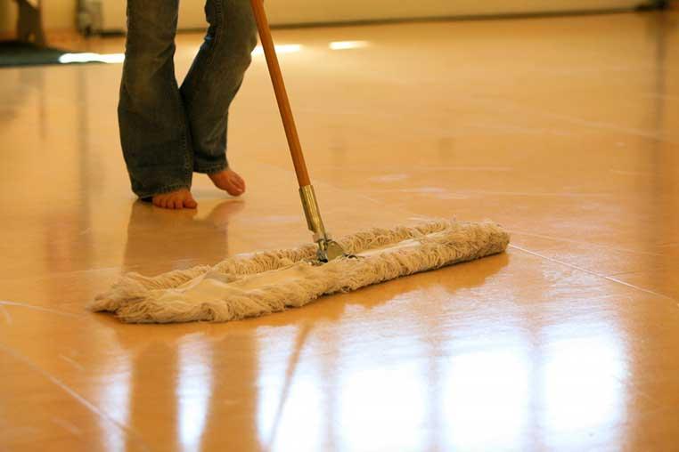 Vinyl Floor Cleaning